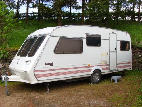 Retreat Caravan Close Up