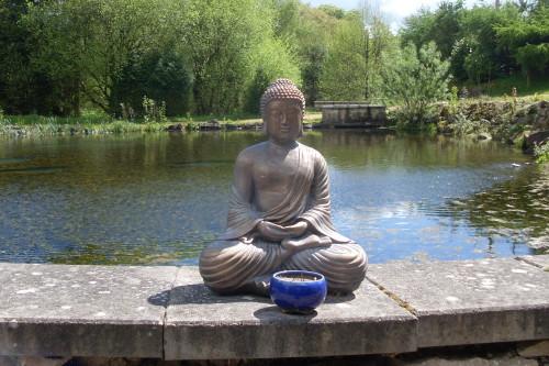 Sitting Buddha at the Lake